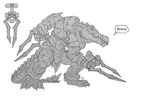Crocodile - Battle Chasers Creature Contest by Neexz