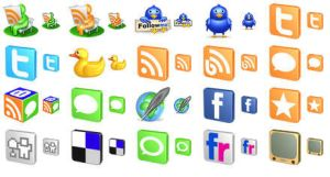 Free 3D Social Icons by Ikonod
