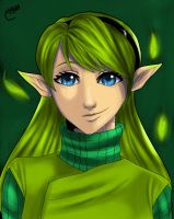 Ocarina Of Time Saria Portrait by Deadbeat-Rhapsody
