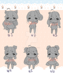 [3/6 OPEN] Chibi Batch #1 Choose your own palette by MochiiAdopts