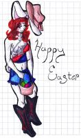 Holidays:: Texas Easter Bunny by DragonRayne-kun