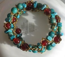 September Hues Bracelet Closeup 2 by Windthin