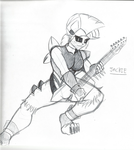 Jackie the mohawk metal godess by TheIcedWolf