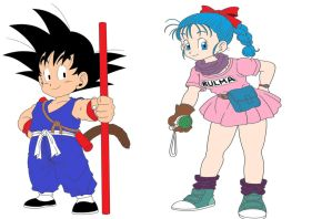 Goku and Bulma Episode 1 style by ltdtaylor1970
