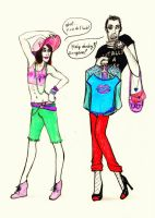 Fun with some clothes ^^ by Snipyro