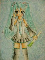 Traditional Art: Hatsune Miku by SweetBeriiChu