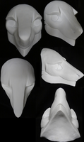 New Sergal Head Blanks by DreamVisionCreations