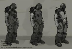 Spaceman Concepts by CrayonMechanic