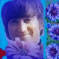 john lennon flower power by analovecatdog
