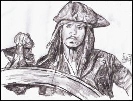 Captain Jack Sparrow by Forty-Fathoms