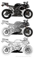 CBR 600 - Vector to Keyline by Heavyside
