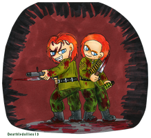 two little soldiers by Deathlydollies13
