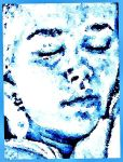 Alone in blue-for all artists and friends by YOKOKY
