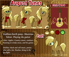 August Tunes Reference sheet  by MidnightSketches