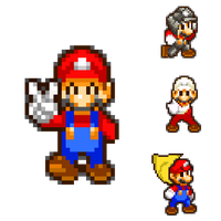 Mario and his Powerup Forms by KingAsylus91