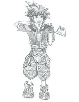 Sketch- Sora by SoulDeku