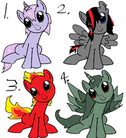 Pony adoptables- Open by LexiDog01