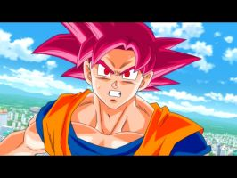 Screenshot SSj God Goku by delvallejoel