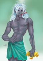 Drizzt in the Bathtub by batchix