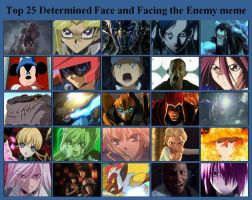 Top 25 Determined Face and Facing the Enemy meme by artdog22