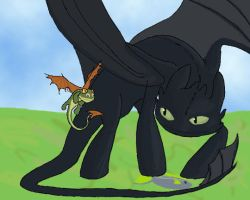 No One Touches Toothless' Fish by DragonOfEclipse