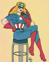AV: Captain America as a Girl by objectively-pink