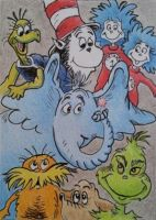 Seuss card by waughtercolors