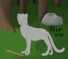 :WC: WIP Jayfeather and da stick by IronMeow
