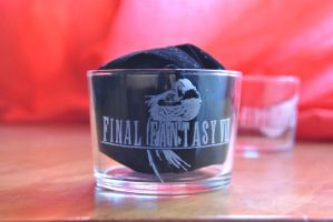 Engraved Final Fantasy 8 glass by Yuki-Myst