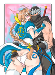 Commission of Ryu Hayabusa and Kasumi by Ray-D-Sauce