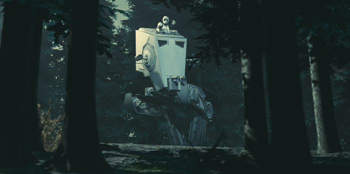 AT-ST on Endor by evgenyprice