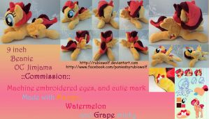 MLP 9 inch Beanie OC 'Jimjams' ::Commission:: by RubioWolf