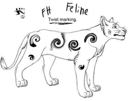 Twist Feline Marking Idea by NightshadeTheLeopard