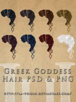 Greek Goddess Hair PSD and PNG by la-voisin