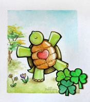 Watercolor - Happy Turtle by barananduen