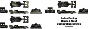 Lotus Racing 2011 Car Liveries by spectravideo