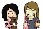 ArtTrade: Playing With Stuffed Toys by soryukey