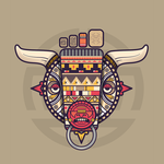 Aztec bull-little foot by CariBean-Punk