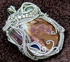 Sterling Silver Wire Wrapped Pendant by Jwall805