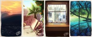 Background Painting -Set1 by MadJesters1
