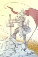 Joan of Arc and the Sword in the Stone by AndreaTamme