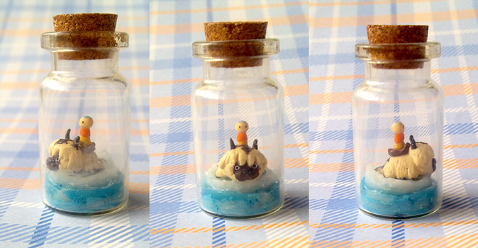 Polymer Clay : Last air bender - Aang and Appa by CraftCandies
