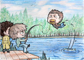 Supernatural: How2 fish Dean out by hyokka