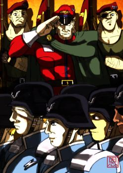 Return of the Troops - M.Bison / Vega by Shadaloo1989