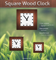 Square Wood Clock by KreDoc