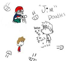 Jim character drawings by w4rh3d