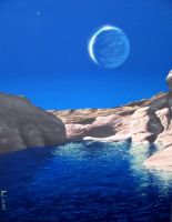 Terraformed Moon by Axel-Astro-Art
