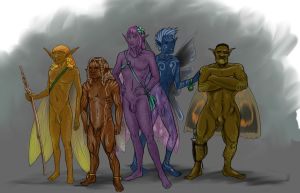 Gay Fairy Squad  Natural / Nude by skycladstrega