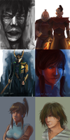 July Speedpaints by Zekfir