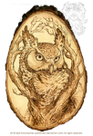 The Sentinel: Pyrography by pallanoph